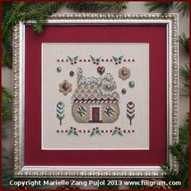 Cookies House cross stitch chart Filigram - $7.20