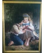 E. Munier Oil on Canvas,Original,Early 19th century,Signed,Rare,Antique,... - $2,900.00