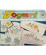 Lot of Vogart Repeat Transfers Vintage 1950's Embroidery Painting Linen ... - $38.99