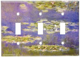 Art Plates - Monet: Water Lilies Switch Plate - Triple Toggle - $18.92