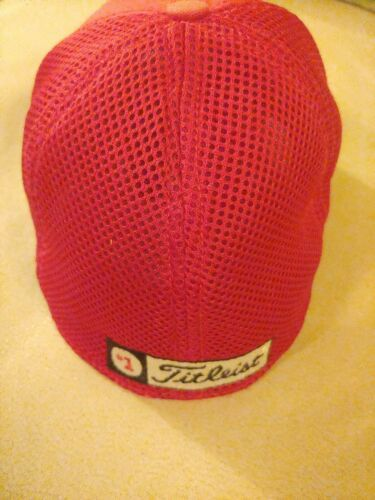 FootJoy Titleist ProV1 Men's Golf Hat Cap Small Medium Red Mesh Back Fitted image 3