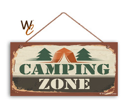 Camping Zone Sign, The Great Outdoors Sign, Campground 5x10 Sign - $11.39