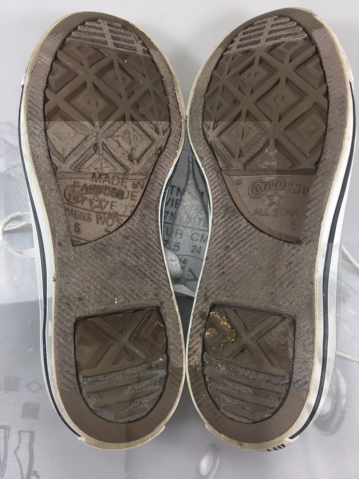 Converse All Star 5 Mens 7 Womens EU 37.5 Gray Canvas Sneakers Gym Shoes