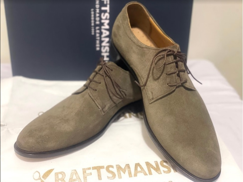 Handmade Men's Brown Suede Dress/Formal Lace Up Oxford Shoes