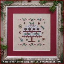 Christmas Cake cross stitch chart Filigram - $7.20
