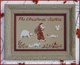Christmas Visitors cross stitch chart Filigram - $9.00
