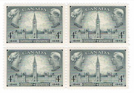 1948 Responsible Government Block of 4 Canada Stamps Catalog Number 277 MNH