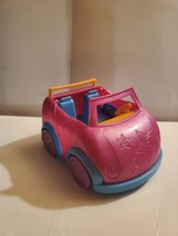 Mattel Polly Pocket 2009 Dark Pink Convertible Car  - $5.00