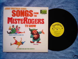 Mister Rogers Songs Disneyland LP 1973 Jerry Whitman