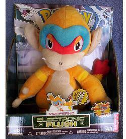 Pokemon Diamond and Pearl Plush Talking MONFERNO NeW in Box 11 Inches Tall
