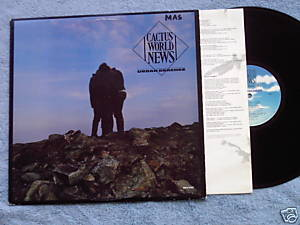 CACTUS WORLD NEWS Urban Beaches LP 1985 Bono Irish rock