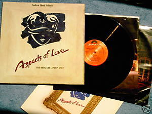 ASPECTS OF LOVE OLC 2X LP Andrew Lloyd Webber libretto