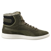 PUMA VIKKY MID CORDUROY WOMEN'S OLIVE NIGHT HIGH TOP SNEAKER , #363729-01 - $44.99