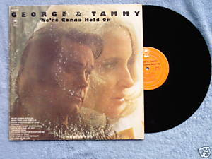 George & Tammy We're Gonna Hold On 1973 LP Epic
