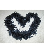 Black Boa Feathers Wrap Neck Warmer - $5.97