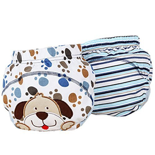 2 PCs Lovely Dog Toddlers Reusable Washable Baby Newborn Diaper Pants M