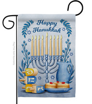 Happy Hanukkah - Impressions Decorative Garden Flag G135326-BO - $19.97