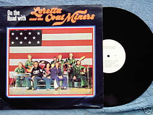 On the Road with Loretta & the Coal Miners LP 1976 RARE