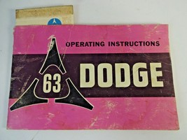 1963 Dodge Operating Instructions Manual Mopar, 383, 318 Slant 6 + Warranty Card - $10.34