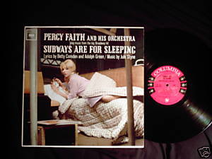 Percy Faith Subways are for Sleeping LP 6 eye mono easy