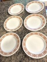 "PYREX Copper Filagree Vintage Milk Glass Tableware 9"" Plates - $11.87"
