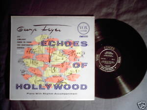 George Feyer LP Echoes of Hollywood piano Cafe Carlyle
