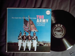 The Army Way West Point Cadet Glee Club Vox LP 1958 WWI