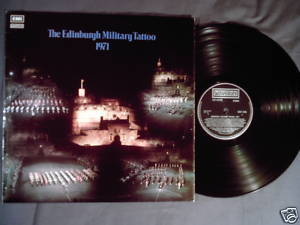 Edinburgh Military Tattoo 1971 LP bagpipes pipe & drums