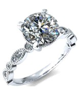 14K White Gold Over 2.00 Ct Round Cut Diamond 4-Prong Solitaire Engageme... - $84.79