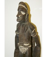 Old Asmat Warrior Hand Carving Statue Ironwood ... - $692.99