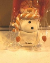 CHRISTMAS ORNAMENTS WHOLESALE- SNOWMAN- 13356 'TRAVIS'-  (6) - NEW -W74 - $5.83