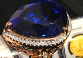 TANZANITE & DIAMOND RING 12cts GIA CERTIFIED & APPRAISED $42,500 WOMEN J... - $16,950.00