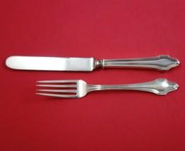 "Hallmark Sterling Silver Junior Set 2-Piece Knife 7 1/2"" and Fork 6"" - $109.00"