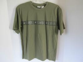 Boys Covington Pine Green Mosaic Shirt Size M - $6.79
