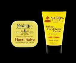 The Naked Bee Serious Hand Repair Cream 3.25 oz Coconut & Honey & Hand Salve - $20.78