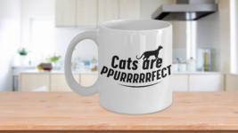 Coffee Mug Cute Gift For Cat Lovers Cats are Purrfect Purring Kitty - $14.84+