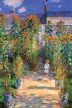 The Artist's Garden at Vetheuil by Claude Monet - Art Print - $19.99+