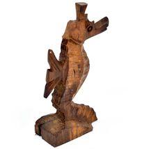 Hand Carved Ironwood Wood Folk Art Ocean Marine Life Seahorse Miniature Figurine image 3