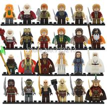 24pcs The Lord of the Rings Hobbit Bombur Thorin Galadriel Orcs Minifigures Lego - $34.99