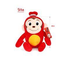 "Toy Trons Coco Mong Stuffed Animal Monkey Plush Toy 9.85"" 25cm image 5"
