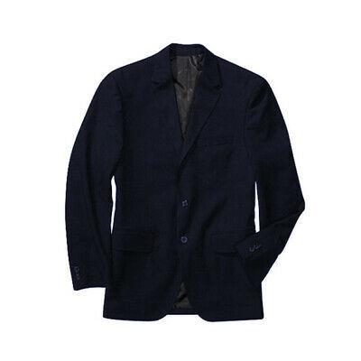 George Men's Classic Business Casual Duel Vent 2 Button Navy Blazer Jacket - 44R