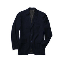 George Men's Classic Business Casual Duel Vent 2 Button Navy Blazer Jacket - 44R