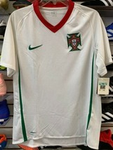 Nike Portugal Wht Retro Vintage Soccer Jersey Size M NkeFit - $59.39