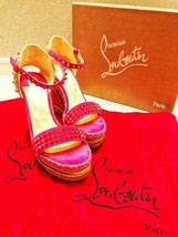 Christian Louboutin Authentic Studs Wedge sole Sandals Size 37 Used from Japan - $495.99