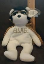 Ty Beanie ~ ELVIS ~ TEDDY BEAR - WHITE with Gold Cape ~ MWMT~ RETIRED ~R... - $19.99