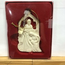 Dickson's white resin joseph mary baby jesus christmas ornament - $5.59