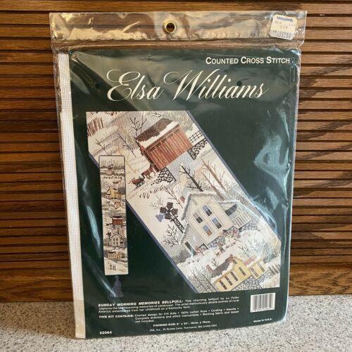Counted Cross Stitch Kit SUNDAY MORNING MEMORIES BELLPULL Elsa Williams New! - $19.79