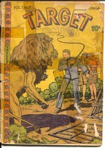 Target Vol. 7 #17 1946-Targeteers-Chameleon-Cadet-Lion attack-P/FR - $27.74