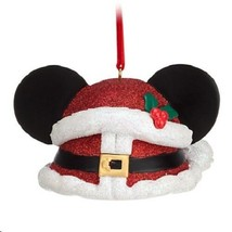 Disneys Santa Mickey Ear Hat Ornament, NEW - $24.95