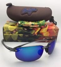 Polarized MAUI JIM Sunglasses HO'OKIPA MJ 407-11 Smoke Grey w/Blue Hawai... - $189.95